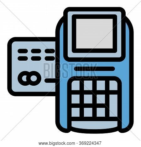 Payment Digital Terminal Icon. Outline Payment Digital Terminal Vector Icon For Web Design Isolated