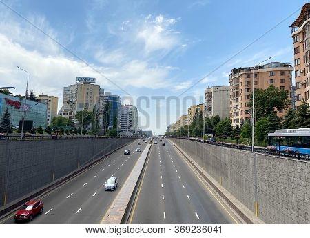 Almaty, Kazakhstan - June 1, 2020: View From Al-farabi Avenue, It Is One Of The Main Roads In The Ci