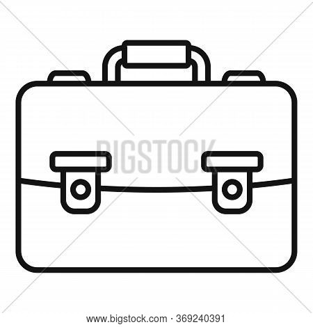 Tutor Leather Bag Icon. Outline Tutor Leather Bag Vector Icon For Web Design Isolated On White Backg