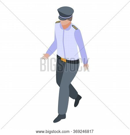 Police Officer Icon. Isometric Of Police Officer Vector Icon For Web Design Isolated On White Backgr