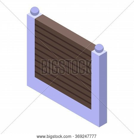 Fence Gate Icon. Isometric Of Fence Gate Vector Icon For Web Design Isolated On White Background