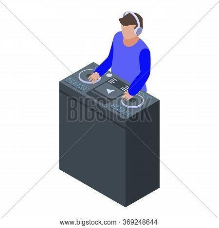 Disk Jockey Icon. Isometric Of Disk Jockey Vector Icon For Web Design Isolated On White Background