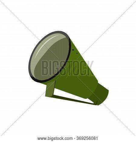 Green Retro Megaphone Illustration. News, Advertisement, Bullhorn. Announcement Concept. Illustratio