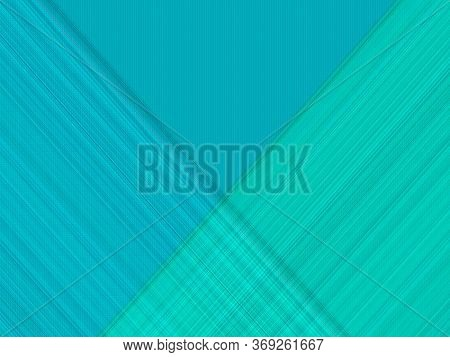 Blue And Turquoise Thin Diagonal Lines On A Turquoise Background. Blue And Turquoise Thin Lines Inte