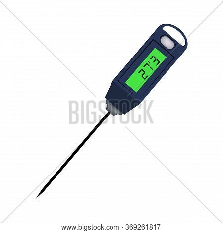 Kitchen Or Laboratory Thermometer . Food Temperature, Diagnostic Tool, Kitchen Equipment. Thermomete