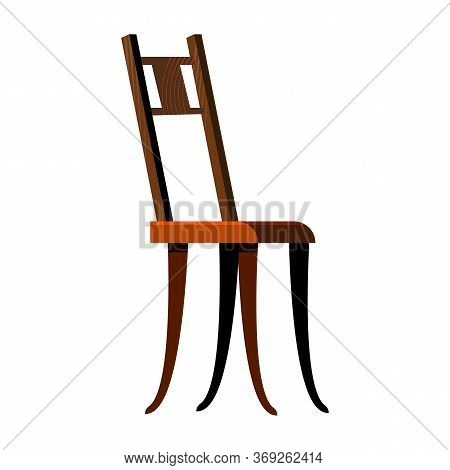 Classic Wooden Chair Flat Icon. Chairs Concept. Resting, Relaxation, Seat. Chairs Concept. Illustrat