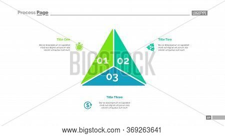 Triangle Diagram. Business Data. Step Diagram, Option Chart, Layout. Creative Concept For Infographi