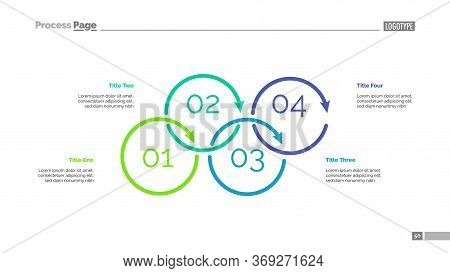 Process Diagram With Four Elements. Cycle Chart, Step Graph, Layout. Creative Concept For Infographi