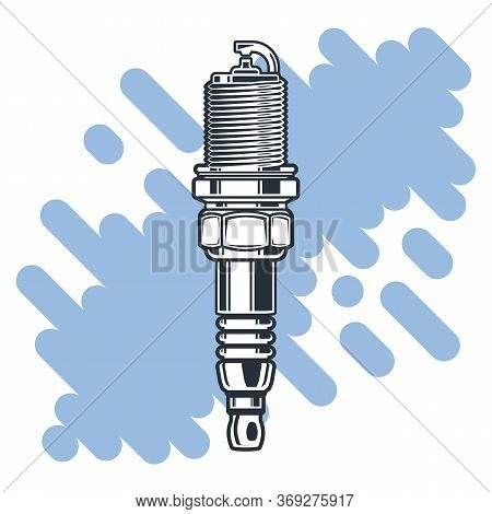 Spark Plug. Monochrome Illustration Of Spark Plug. Design Element For Logo, Label, Emblem, Sign, Pos