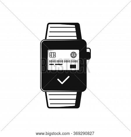 Smart Watch Wearable With Apps On Screen Flat Vector Icon For Apps And Websites