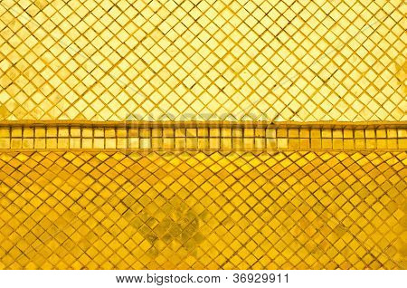Golden Wall Of Thai Temple