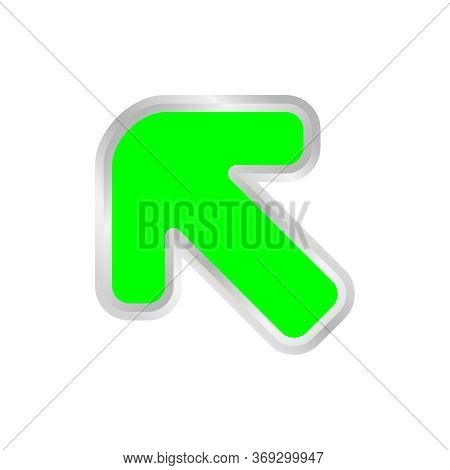 Green Arrow Pointing Left Up, Clip Art Green Arrow Icon Pointing For Left Up, Arrow Symbol Indicates