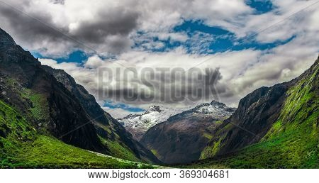 The Andes Mountains In The Ancash Region Of Peru.