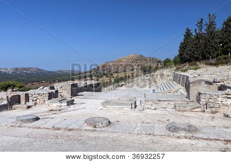 Ancient palace of Phaestos at Crete island in Greece