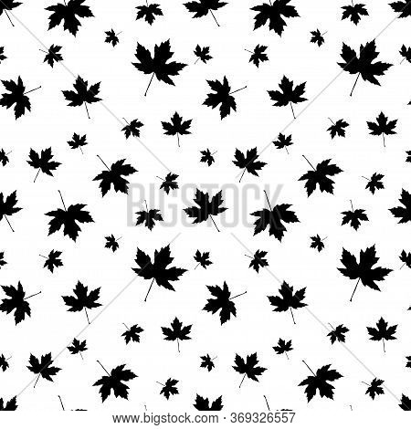 Autumnal Maple Leaf Seamless Pattern Vector Illustration Design Element
