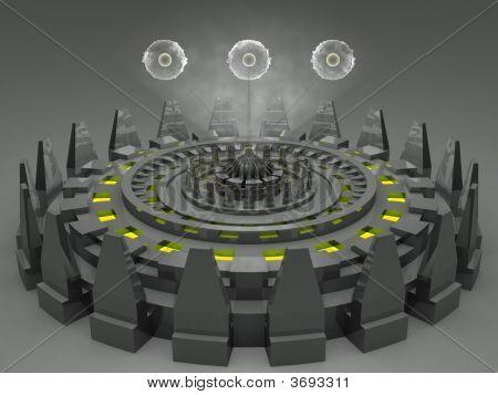 Alien Fantasy Futuristic Machine