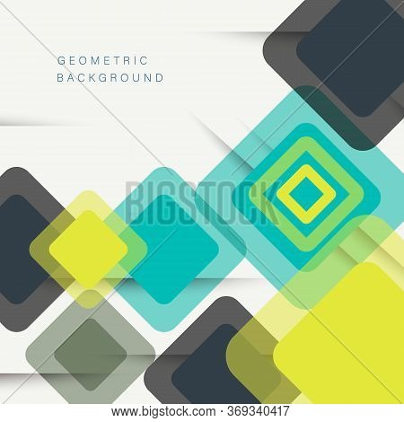 Abstract geometric background. Colorful Abstract Background. Abstract Background.Abstract circle geometric pattern design and background. business abstract background - vector illustration.  Modern overlapping rhombuses. Unusual color shapes for your mess