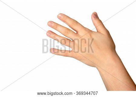 Gesture Of Woman Hands Washing Her Hands Isolated On White