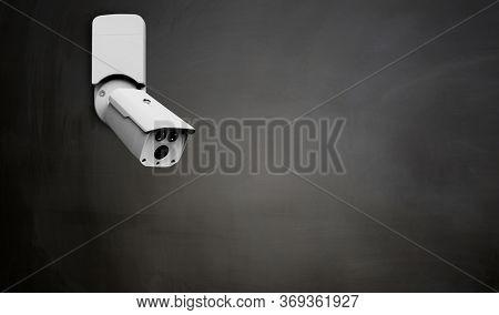 CCTV camera installed on blackboard
