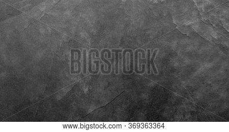 Natural Dark Gray Slate Stone Texture Background