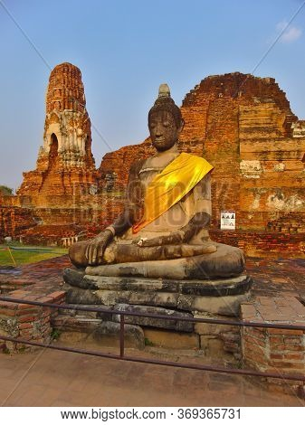 The Wat Mahathaythe Wat Mahathat Temple Of The Great Relic Is A Buddhist Temple In Ayutthaya, Centra