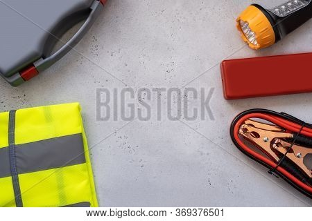 Motorists Kit For Passing Technical Inspection , Emergency Stop Sign, First Aid Kit, Reflective Vest