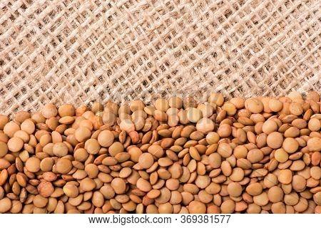Lentils Close-up. Lentils On A White Background
