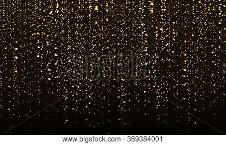 Gold Glitter Texture. Golden Abstract Particles. Sparkle Background. Vector Illustration. Sparkling