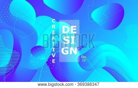 Fluid Background. Colorful Futuristic Poster. Abstract Flow. Vibrant Color. Trendy Poster. Colorful