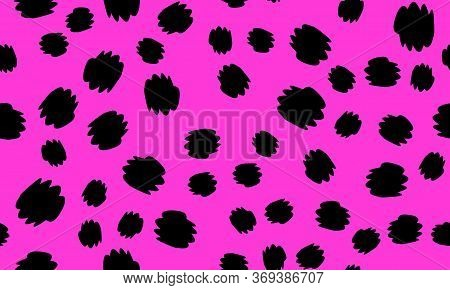 Leopard Print Design. Pink Color. Animal Pattern. Leopard Print Seamless. Panther Skin. Retro Seamle