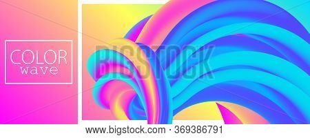 3d Waves. Summer Background. Fluid Flow. Abstract Color Background. Electronic Sound. Fluid Abstract