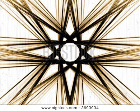 bworn mirrored tall particles in fantasy arrange in white background poster