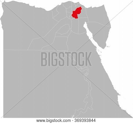 Sharqia Governorate Highlighted On Egypt Map. Business Concepts And Backgrounds.