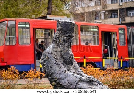 Belgrade / Serbia - December 21, 2019: Statue Of Serbian Patriarch Pavle, The 44th Patriarch Of The