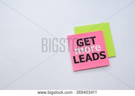 Get More Leads Word On Yellow Pink Sticker