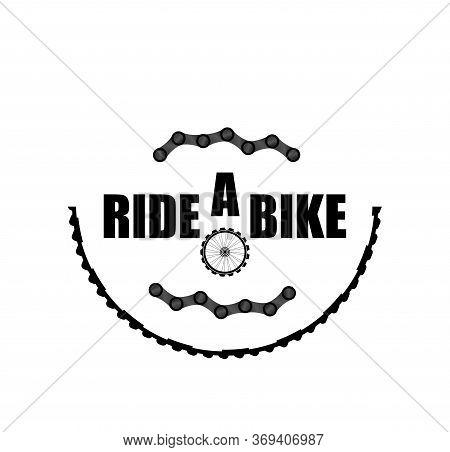 Bike Chains Set. Modern Icon Bike Chains. Ride A Bike. Chain Isolated On White. Bike Wheel