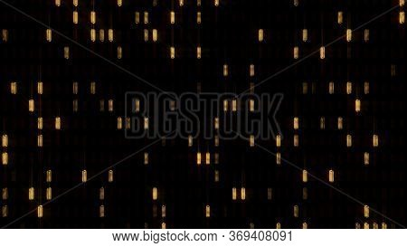 Shiny Abstract Gold Glimmer Led Lights Turning On And Off Randomly - Abstract Background Texture