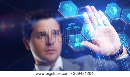 Web Hosting. The Activity Of Providing Storage Space And Access For Websites. Business, Modern Techn