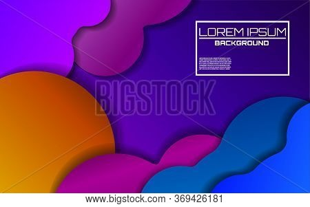 Dynamic Colorful Background With Bright Gradients. Cover Design. Magazine, Poster, Book, Presentatio
