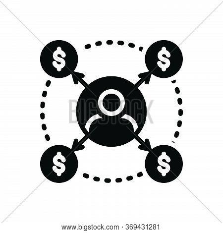Black Solid Icon For Borrower Loan Bribery Lender Loan Debt