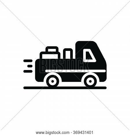 Black Solid Icon For Deliverable Deliver Courier Occupation Package Parcel Supplier