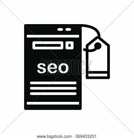 Black Solid Icon For Seo-tagging Seo Tagging Optimization Tag Technology Label