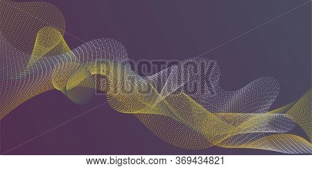 Wavy Flowing Lines On Gradient Background. Gradient Curves Flow Effect Illusion Fancy Background. Ab