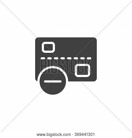 Declined Transaction Vector Icon. Filled Flat Sign For Mobile Concept And Web Design. Cancel Credit