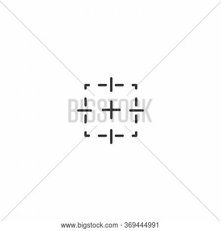 Focus Target Frame. Stock Vector Illustration Isolated On White Background.