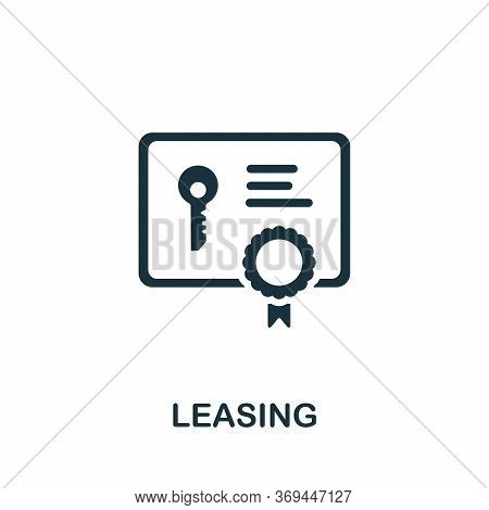 Leasing Icon. Simple Element From Banking Collection. Creative Leasing Icon For Web Design, Template