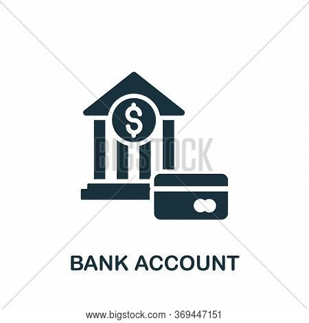 Bank Account Icon. Simple Element From Banking Collection. Creative Bank Account Icon For Web Design