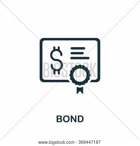 Bond Icon. Simple Element From Banking Collection. Creative Bond Icon For Web Design, Templates, Inf