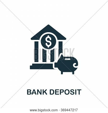 Bank Deposit Icon. Simple Element From Banking Collection. Creative Bank Deposit Icon For Web Design