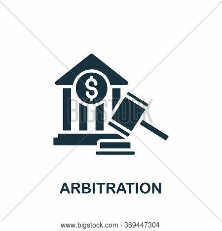 Arbitration Icon. Simple Element From Banking Collection. Creative Arbitration Icon For Web Design,